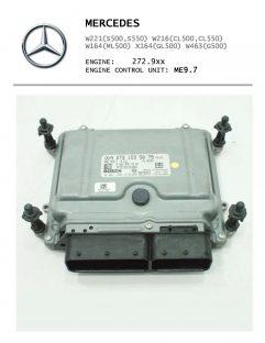 Mercedes W221 W216 W164 X164 - ME9.7 - A2731532979, A2731535079 ...  - диагностика и ремонт блока управления двигателем